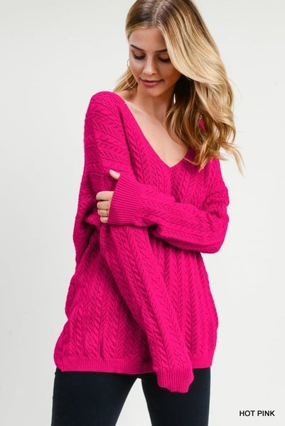 Open Knot Back Sweater