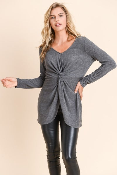 Twist Front Sweater Top