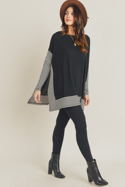 Black Oversize Cape Sweater