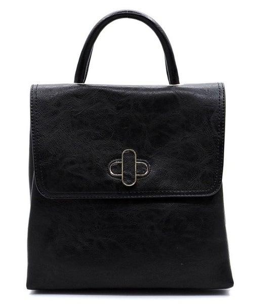 Black Convertible Backpack Purse