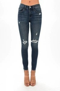 Judy Blue Patch Distressed Skinny