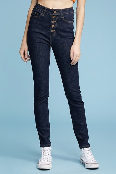 Judy Blue HIgh Waist Button Skinny