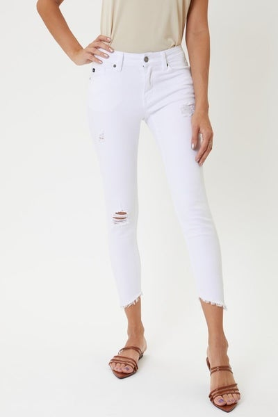 Mid Rise Distressed Ankle Skinny KanCan Jeans *Final Sale*