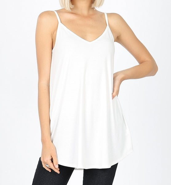 V-Neck/Scoop-Neck Reversible Cami Top