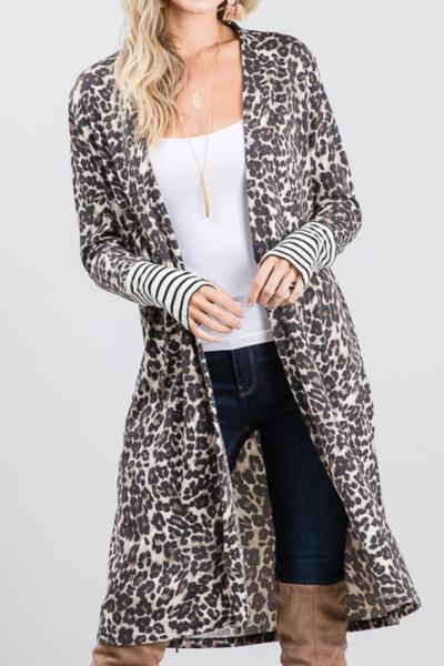 Falling For Leopard Cardigan