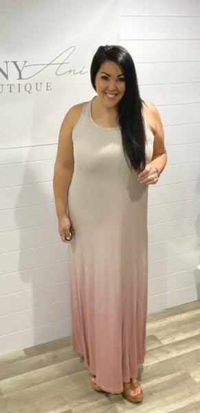 Rib Knit Tank Style Maxi Dress