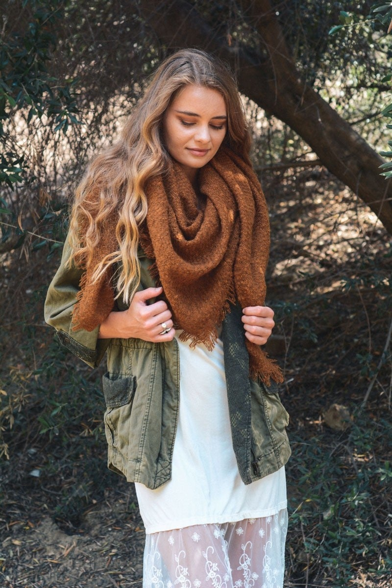 Mohair Blanket Scarf *Final Sale*
