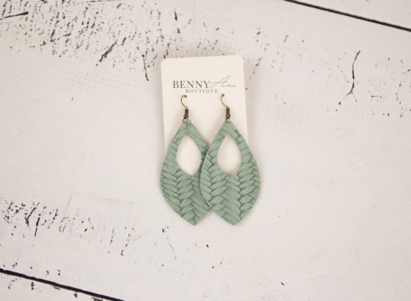 Teal Cutout Earrings