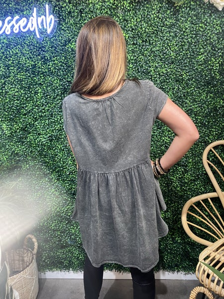 Charcoal High-Lo Top