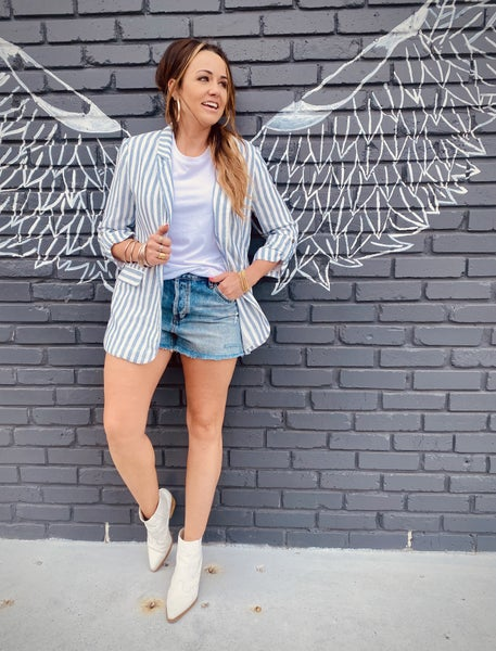 Blue Striped Blazer