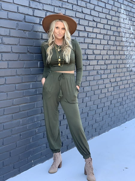 Olive Two Piece Set