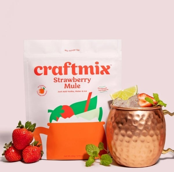 Strawberry Mule Cocktail Mixer - 12 Pack by Craftmix