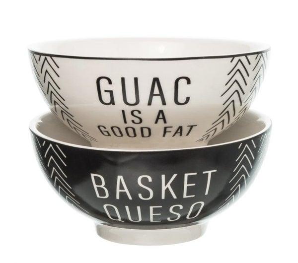 Queso/Guac Ceramic Bowls Set of 2