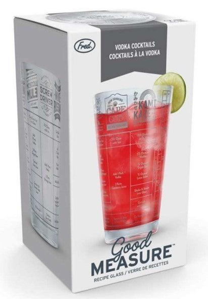 GOOD MEASURE RECIPE GLASS - VODKA