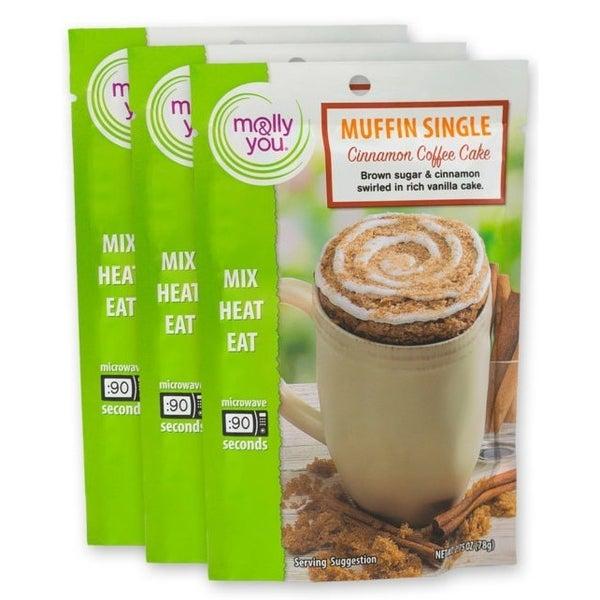 Cinnamon Coffee Cake Muffin Microwave Single