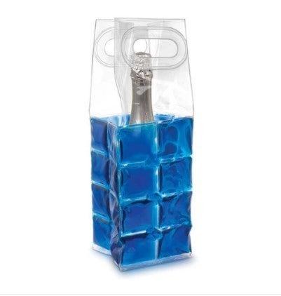 Blue Wine Chill Gel Tote