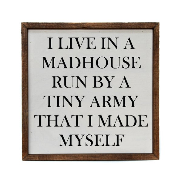 10x10 I Live In A Madhouse Run By A Tiny Army That I Made