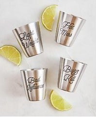 Stainless Steel Shot Cups - Personality
