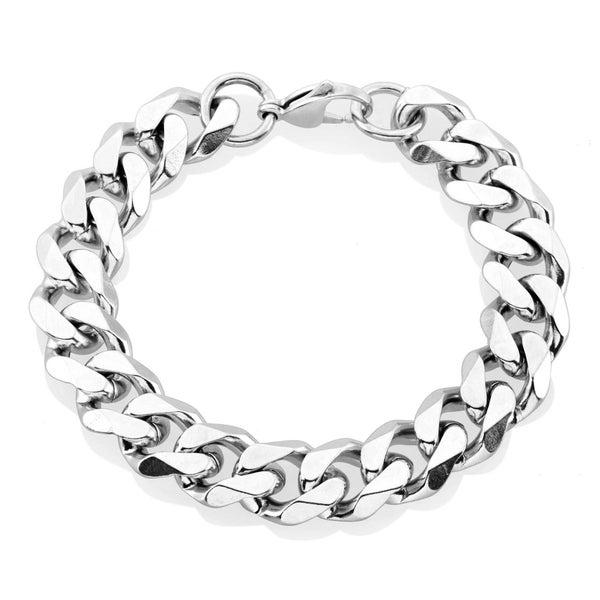 Crucible Men's Beveled Curb Bracelet