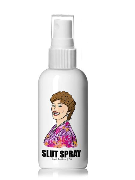 Slut Spray - Golden Girls Hand Sanitizer - 4oz Plastic Spray Bottle
