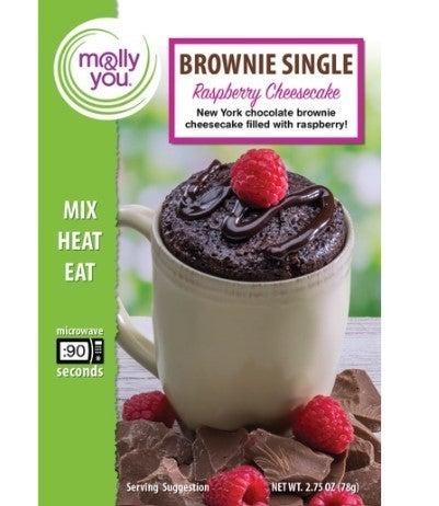 Chocolate Raspberry Cheesecake Brownie Microwave Single