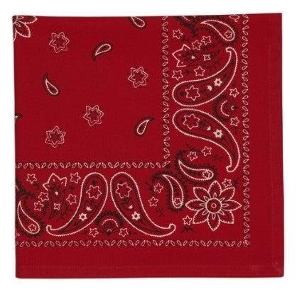 Red Bandana Printed Napkin - Set of 4