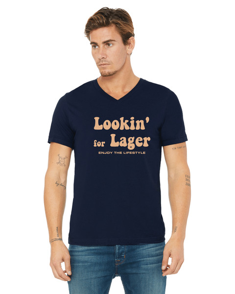 Looking for Lager Tshirt - Unisex - Navy/Tan -BDS- Bella Canvas *Final Sale*