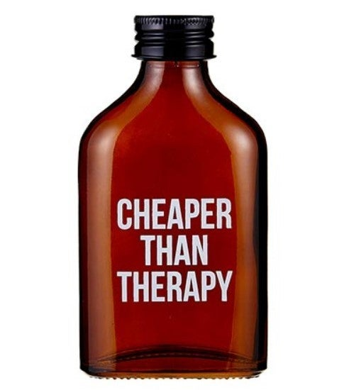 Amber Flask - Cheaper Than Therapy