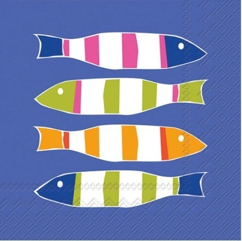 Paper Cocktail Napkins / Stripers