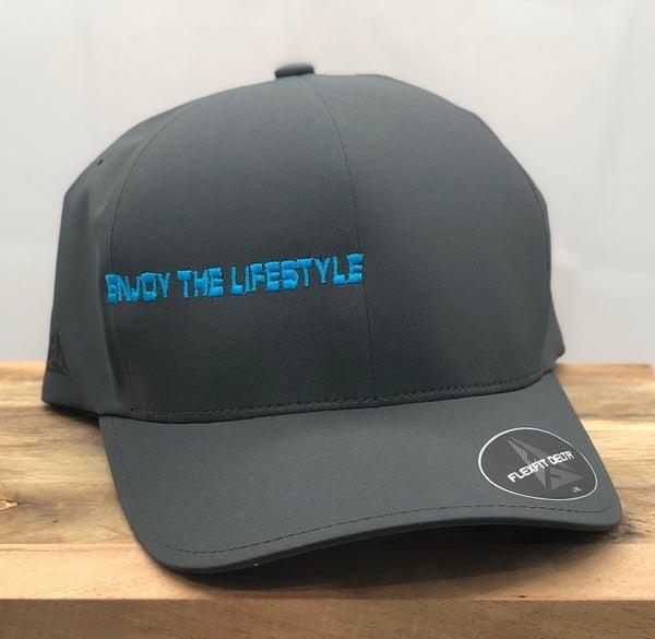 Enjoy the LIfestyle - Flexfit Seamless Cap Gray/Turquoise