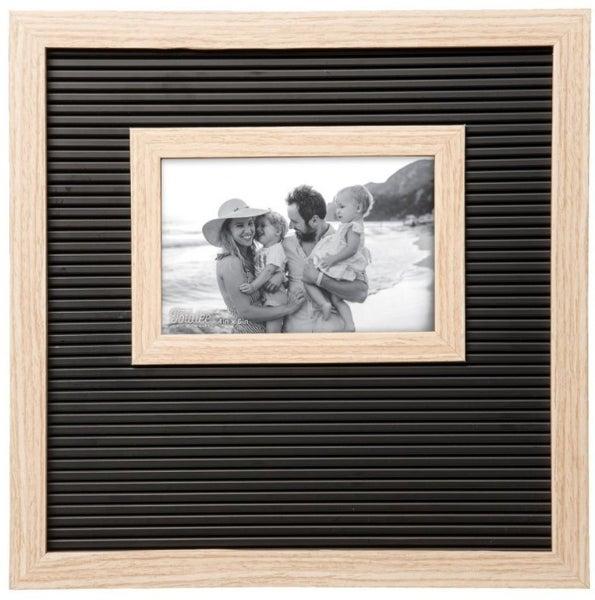 Black and Natural Letter Board Frame