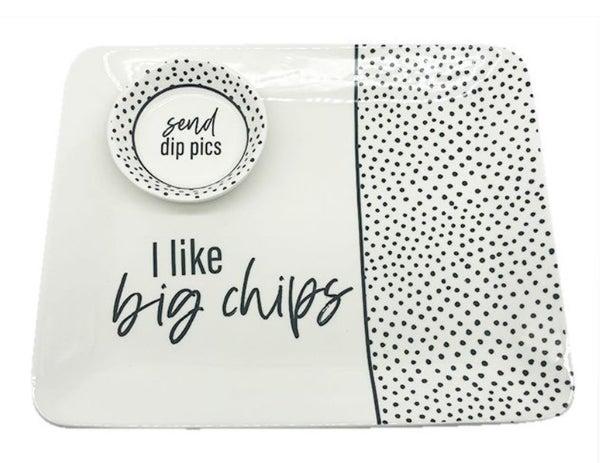 Pics/Chips Cer Platter & Bowl