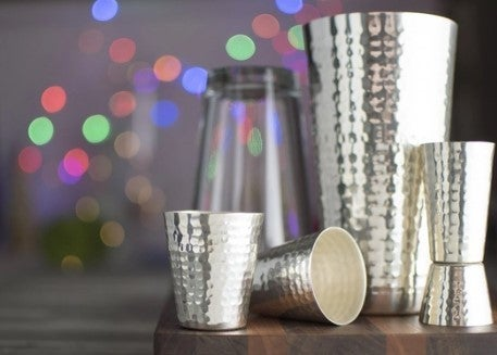 Prince of Scots Hammered Boston Style Shaker Set