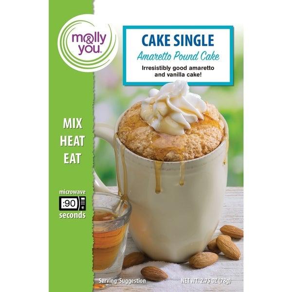 Amaretto Pound Cake Microwave Single
