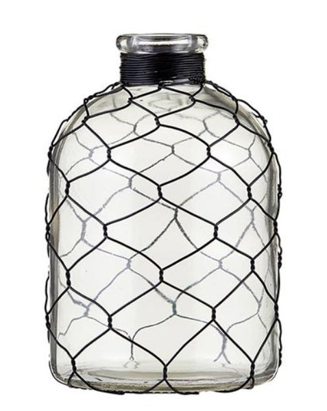 Glass Vase with Wire - Short