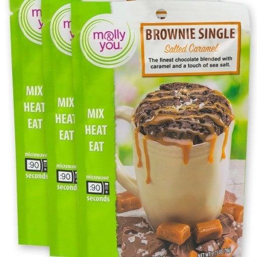 Salted Caramel Brownie Microwave Single