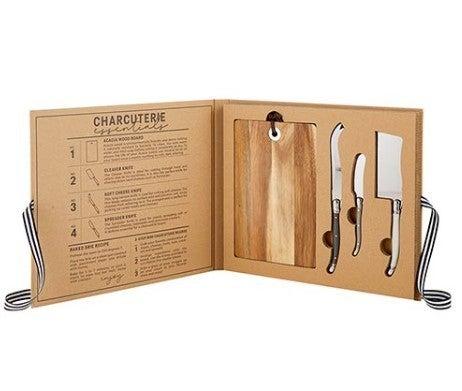 Cardboard Book Box - Acacia Wood Cheese Board w/ Knives