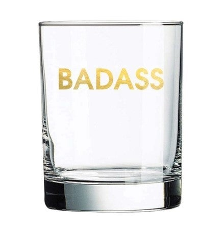 Badass Rocks Glass