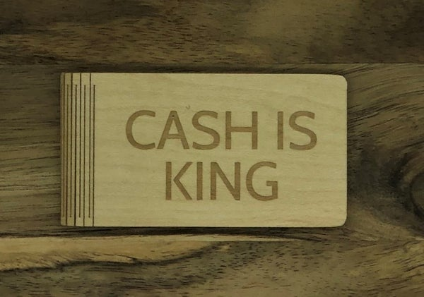 Personalized Money Clip - Cash Is King