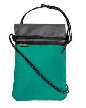 X-Over Shoulder Bag - Teal & Gray