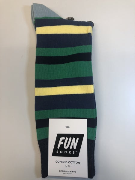 Fun Socks-Green stripe