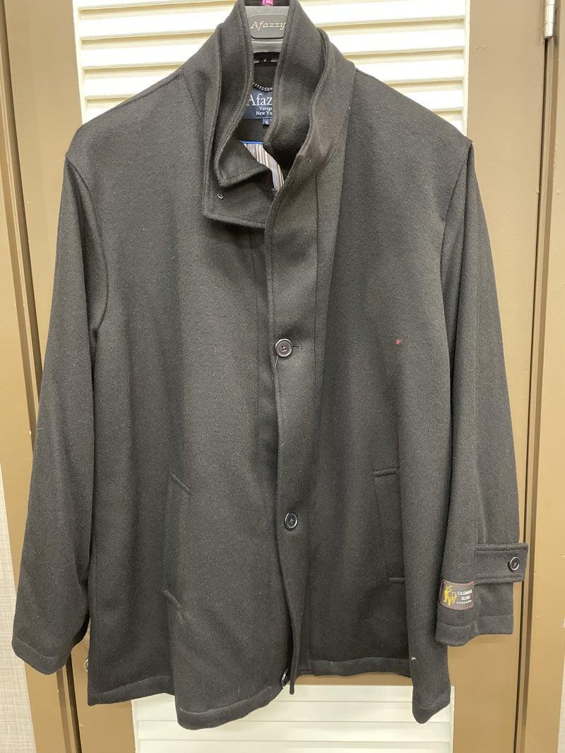 Afazzy-Wool zip/button Car Coat  BT