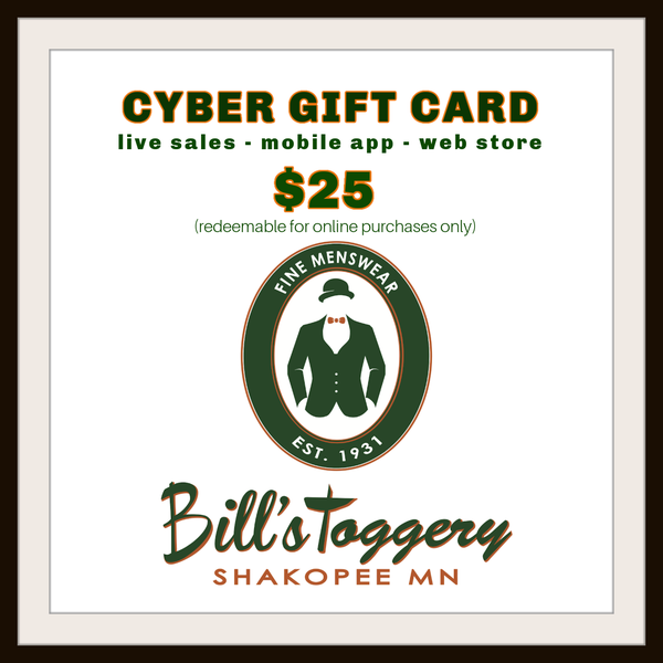 Bill's Toggery Cyber Gift Card