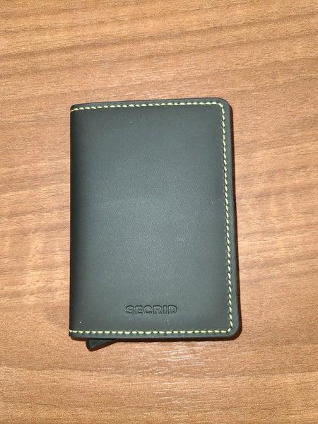Secrid Slim Wallet Matte Black & Yellow