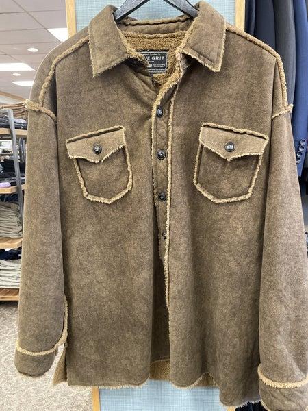 True Grit-Suede Shirt Coat