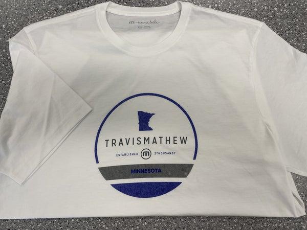 Travis Mathew-MN Shirt-White