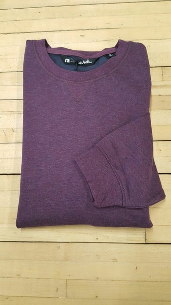 "Travis Matthew Long Sleeve Light Weight Crew Sweater ""Mauve Wine/ Blue Night"""