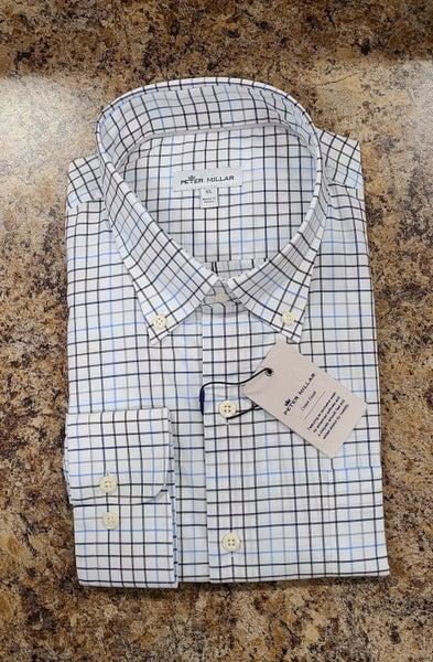 Peter Millar Window Pane Dress Shirt