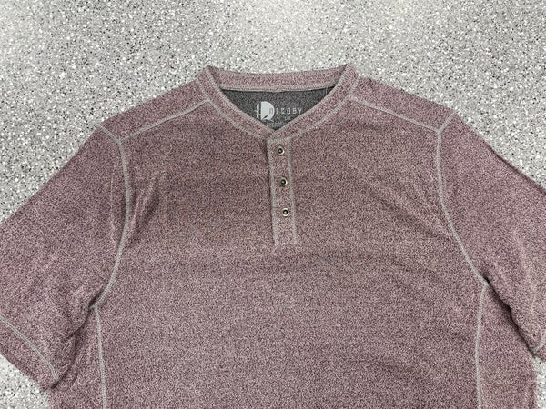 Nicoby S/S 3Button Henley-Burgandy