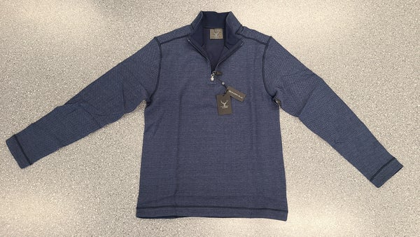 Herringbone Reversable Quarter Zip Sweater